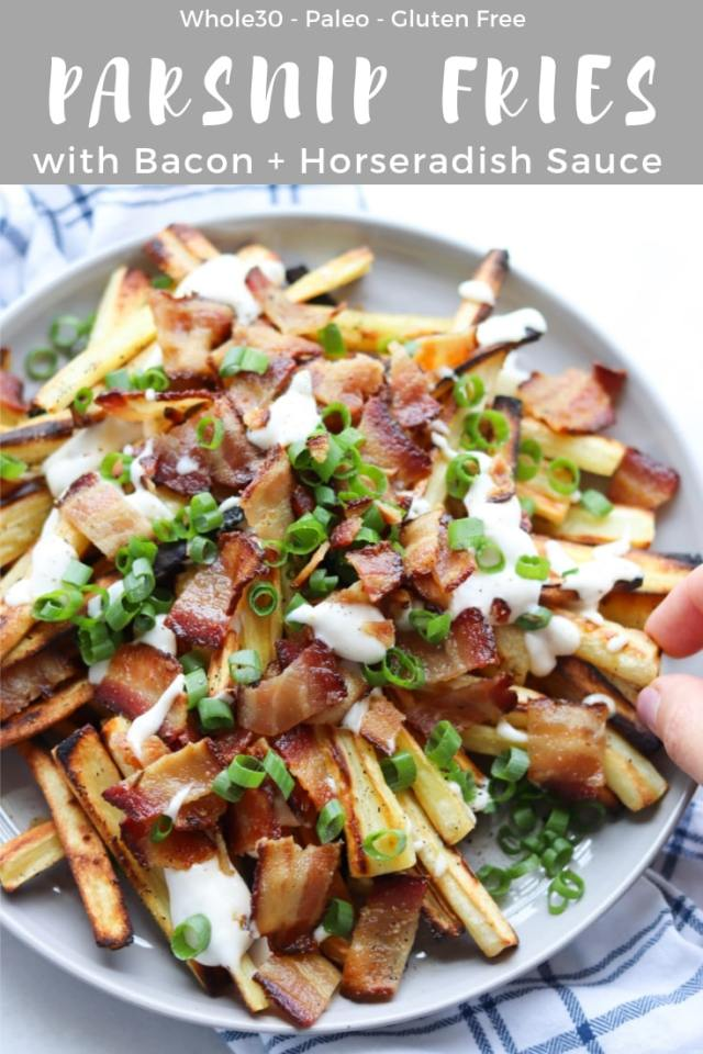 Loaded Roasted Parsnip Fries (Whole30) - Pinterest Image
