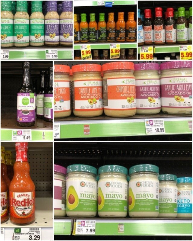Whole30 compliant sauces, spreads, and condiments at Kroger.