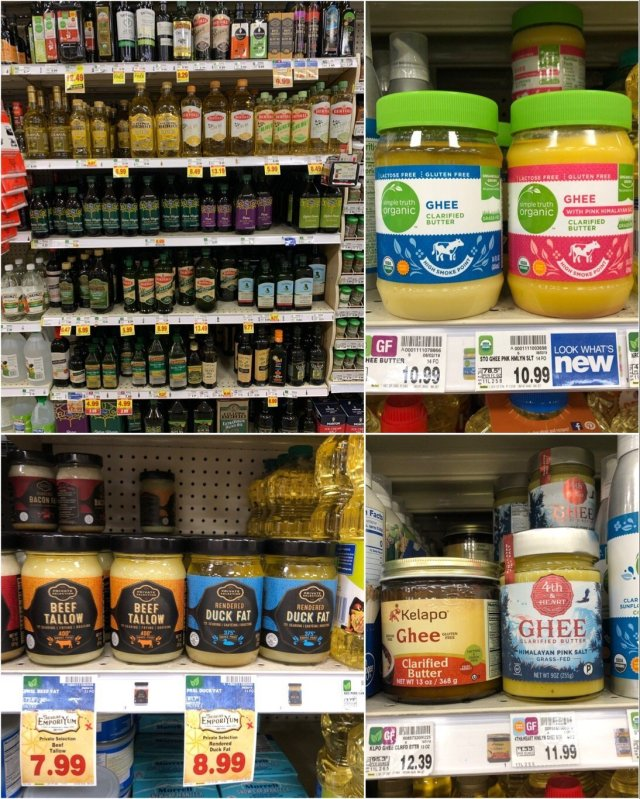 Whole30 compliant cooking oils at Kroger