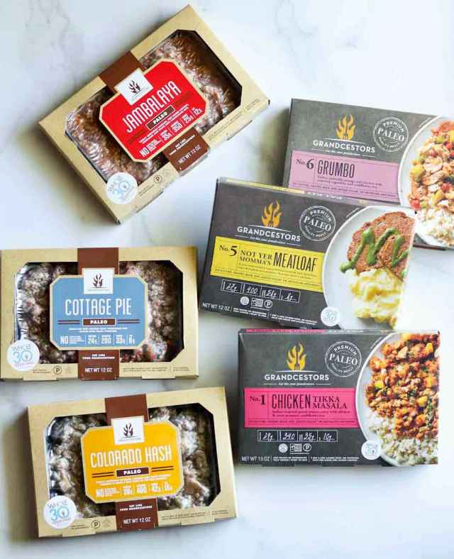 Grandcestors Whole30 Approved Frozen Meals