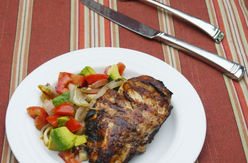 Balsamic Chicken with Hearts of Palm & Avocado Salad