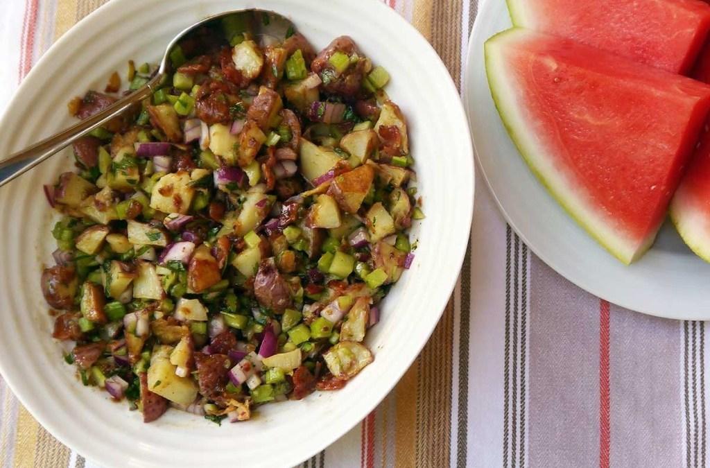 Roasted Bacon Dijon Potato Salad