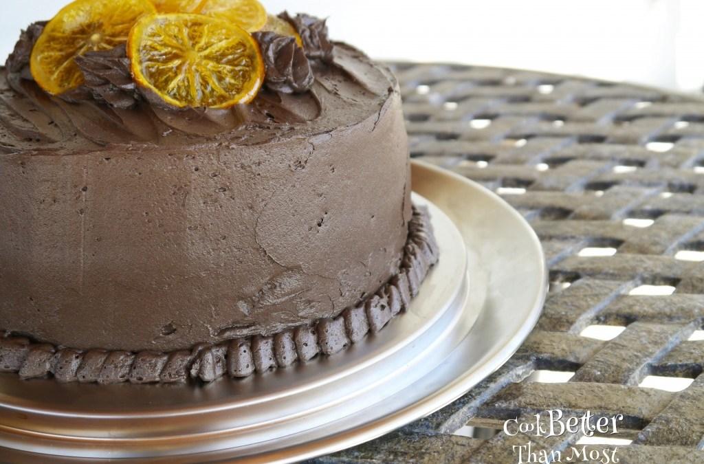 Dark Chocolate and Orange Layer Cake