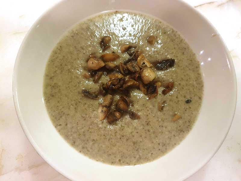 מרק קרם פטריות