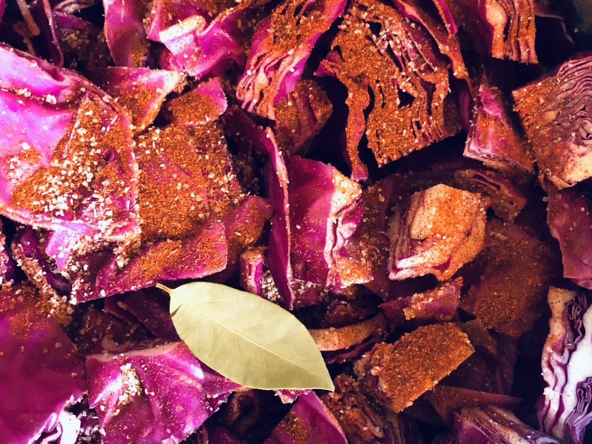 Red Cabbage with Sausage and Potatoes