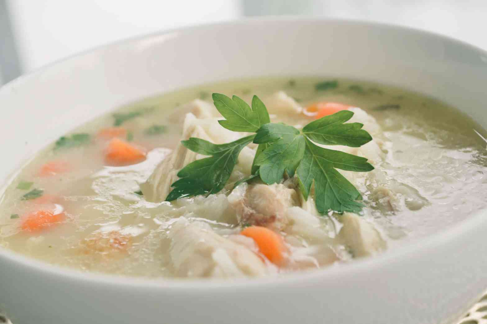 Simple Chicken and Rice Soup