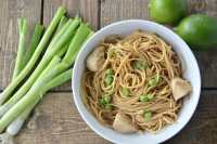 Toasted Sesame Peanut Noodles with Chicken