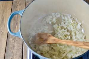 onions cooking in oil