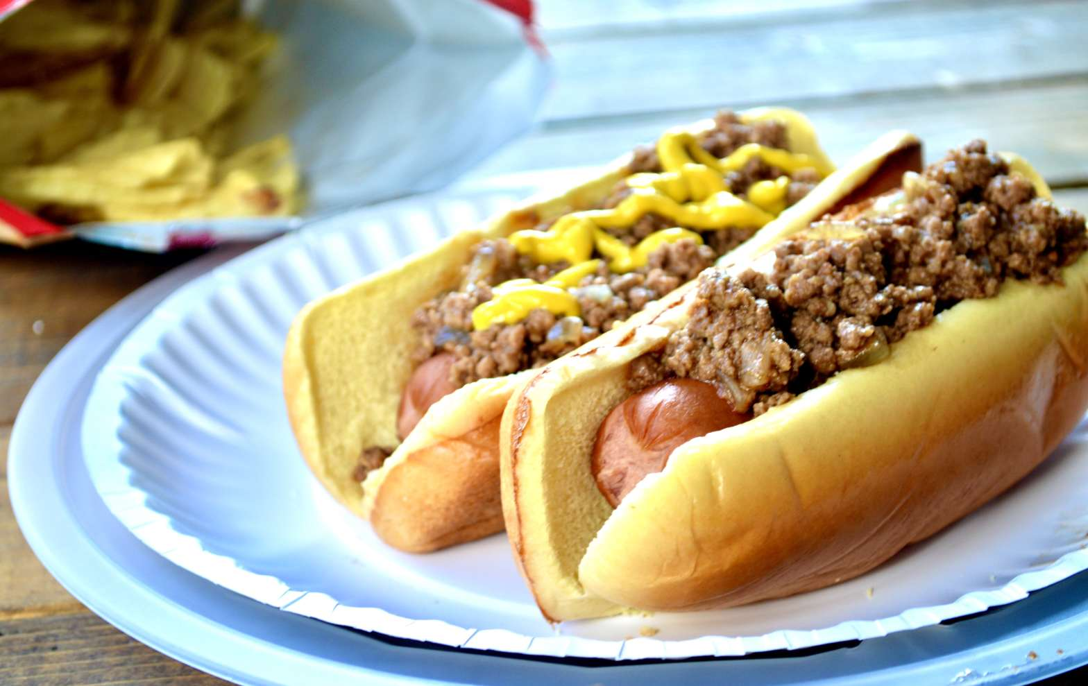 sweet meat chili dogs