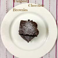 (Fudgiest!) Chocolate Brownies