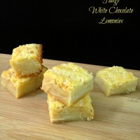 Fudgy White Chocolate Lemonies {Lemon Brownies}