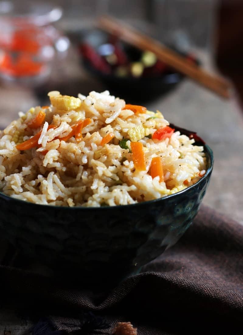 how to make dark fried rice