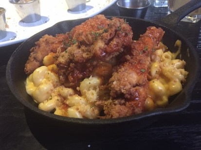 Fried chicken and mac from the Prohibition Gastro Lounge, Powell Ohio