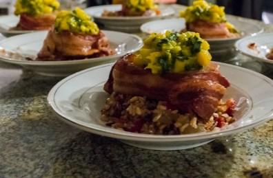 Bacon Wrapped Pork Mango Basil Relish-1