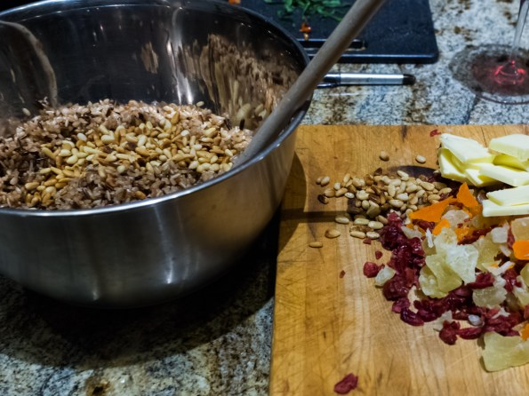 Food Photography :: Wild & Brown Rice with Tropical Fruit & Pine Nuts