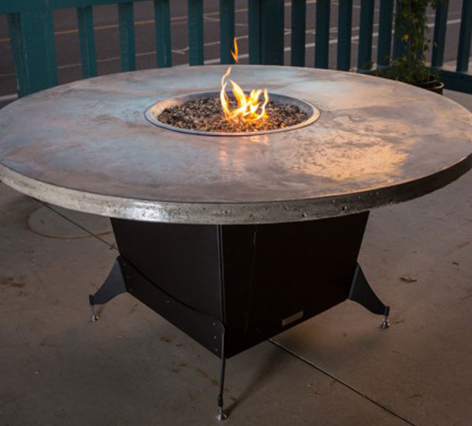 Bishop Fire Table For Restaurant Dining Cooke Furniture