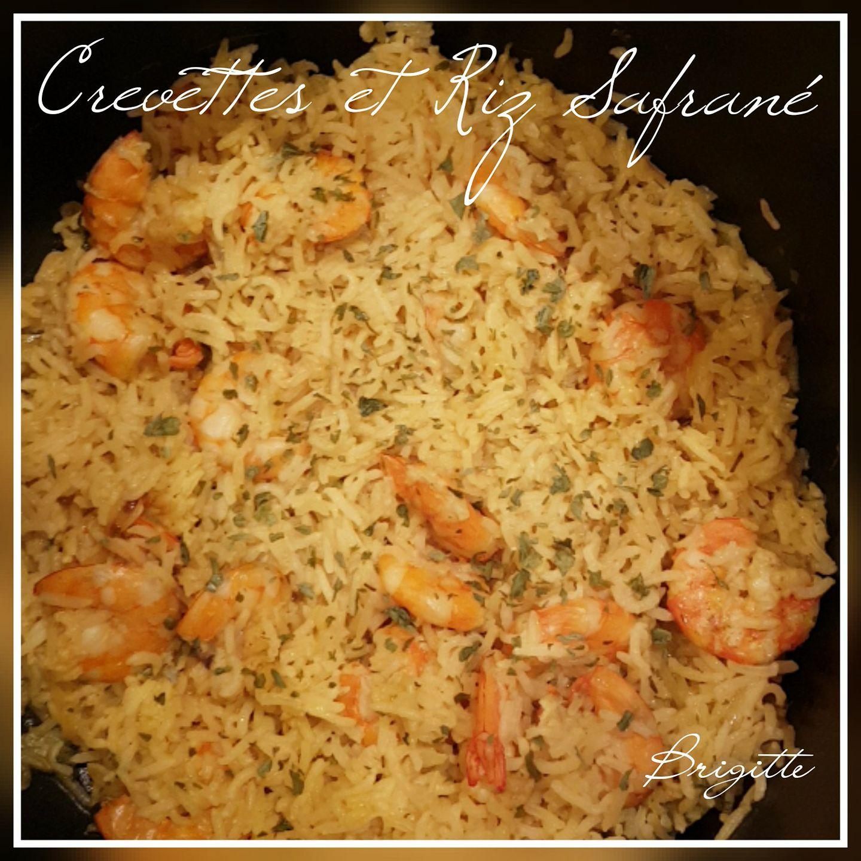 Crevettes et riz safrané