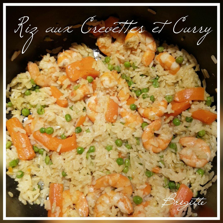 Riz aux crevettes et curry