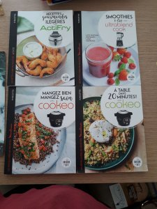 Les 4 Nouveaux Livres Moulinex Recettes Cookeo