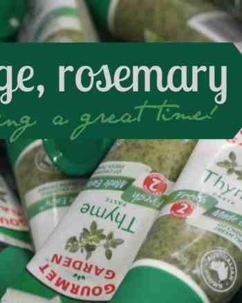 tubes of gourmet garden paste, thyme, cooker and a looker