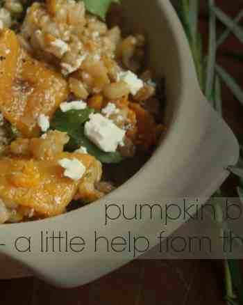 pumpkin, pearl barley risotto, rosemary, pumpkin