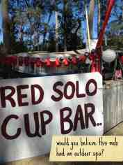Gympie Muster - Red Solo Cup Bar