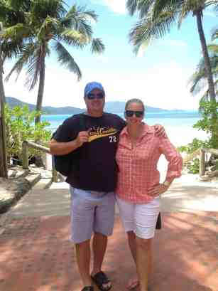 Bearhands and I on Hamilton Island