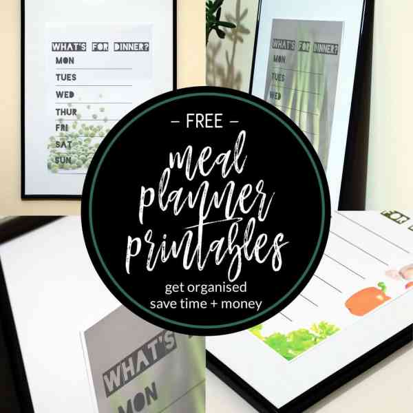free printable meal planners social