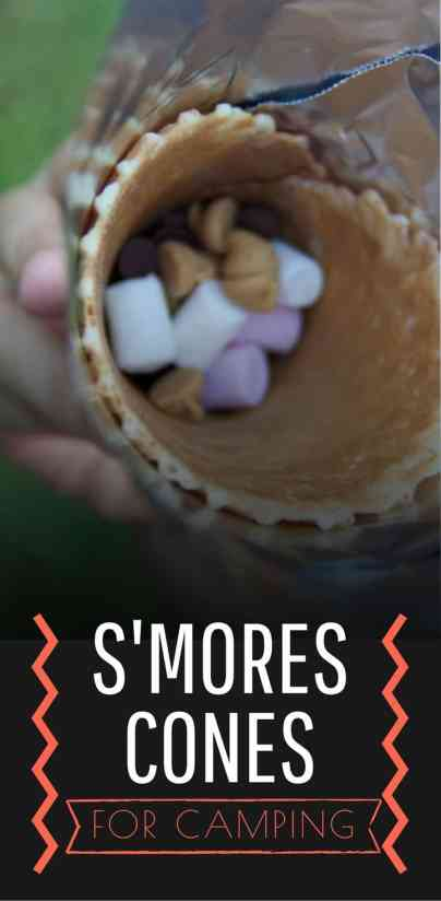 s'mores cones for camping