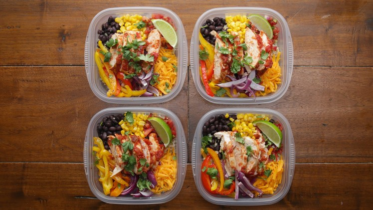 Weekday Meal – Prep Chicken Burrito Bowls