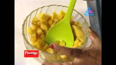 Mango Paneer Pudding