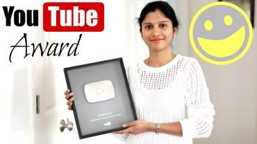 Youtube Silver Play Button – 100000 Subscribers Award