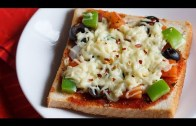 Bread Pizza On Tawa/Pan Recipe – Bread Pizza Without Oven