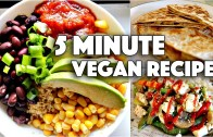 EASY VEGAN 5 MINUTE RECIPES – FOR COLLEGE STUDENTS