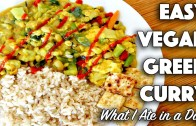 WHAT I EAT IN A DAY – VEGAN – GREEN CURRY RECIPE