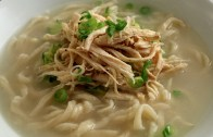 Korean Chicken Noodle Soup from Scratch – Kalguksu: 칼국수
