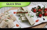 Party Appetizers Quick Bites – 3 Different Types Of Starters | Snack Recipes By Ruchi Bharani