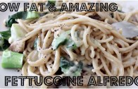 AMAZING LOW FAT FETTUCCINE ALFREDO – Cheap Lazy Vegan