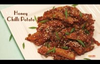 Honey Chilli Potato – Crispy Honey Chili Potato Recipe – Starter Recipe