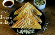 chilli cheese sandwich recipe – grilled cheese chilli sandwich recipe