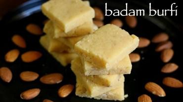 badam burfi recipe – almond burfi recipe – badam katli recipe