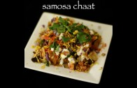 samosa chaat recipe – easy samosa chaat video recipe: