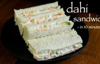 dahi sandwich recipe – hung curd sandwich – cold sandwiches recipes