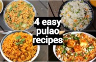 4 easy &am – quick lunch box pulao recipes – one pot tiffin box recipes – lunch box rice recipes