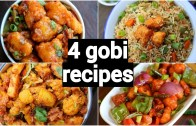 4 gobi snacks or starters recipes – indo chinese recipes with gobi – cauliflower appetiser recipes