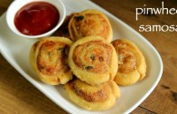 pinwheel samosa recipe – samosa pinwheels – aloo bhakarwadi