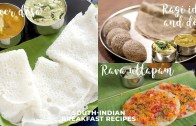 South Indian Breakfast Recipes – Ragi Idli & Dosa – Neer Dosa