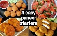 4 easy paneer starters or snacks recipes – पनीर के नाश्ते रेसिपी – easy paneer appetisers recipe