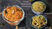 3 easy diwali snacks recipe – boondi recipe – omapodi or plain sev | kara sev