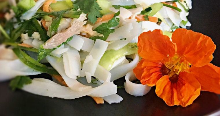 Easy Vietnamese Chicken Salad with Rice Noodles